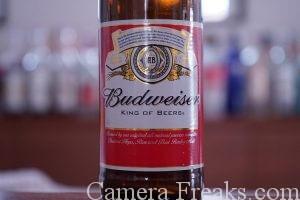 ビールのラベルをISO1000で撮影した写真