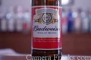 ビールのラベルをISO2000で撮影した写真