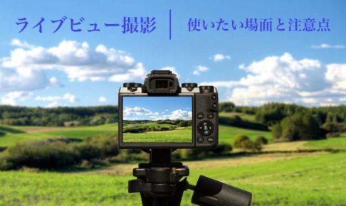 一眼レフカメラのライブビューの使い方と注意点