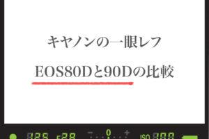 キヤノンEOS80Dと90Dの比較