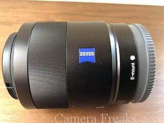 SEL55F18Zのレンズ全体写真