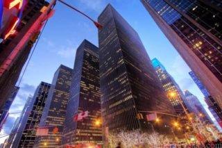 一眼レフでニューヨークへ旅行へ行った時に広角レンズで撮影した写真