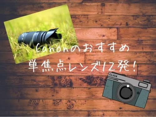 Canonの一眼レフカメラにおすすめの単焦点レンズのメリットとデメリットを解説