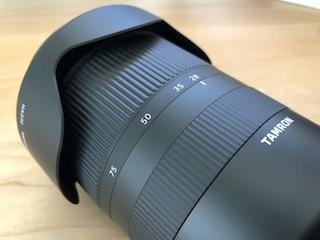 ソニーEマウント用フルサイズ対応標準ズームレンズ タムロン28-75mm F:2.8 Di III RXD (Model A036)のズームリング