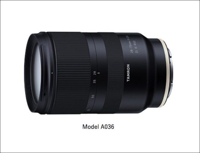 ソニーEマウント用フルサイズ対応標準ズーム タムロン 28-75mm F:2.8 Di Ⅲ RXD (A036)のレンズ外観写真
