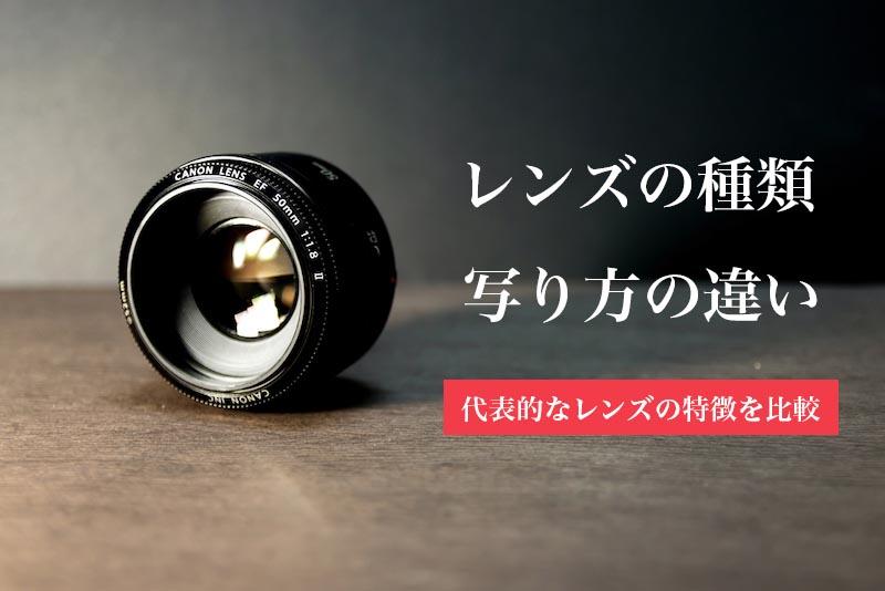 カメラのレンズの種類や特徴を比較