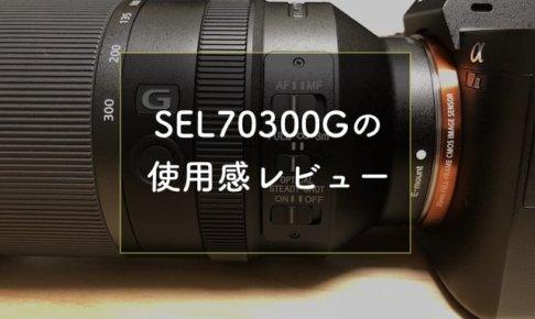 ソニーEマウント望遠レンズSEL70300Gのレビュー