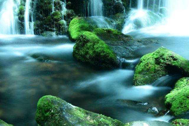 滝を流れるように撮る