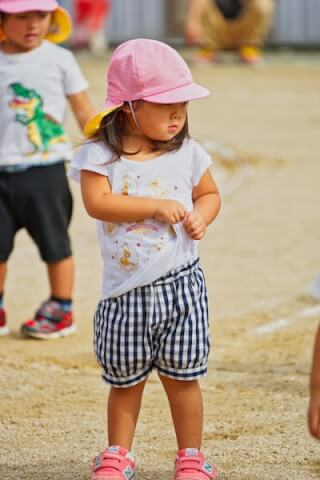 SEL70300Gで撮影した子供の運動会写真