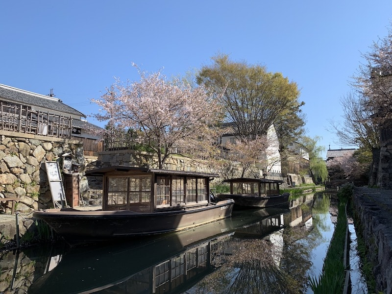 iPhoneXSで撮影した八幡堀の風景写真