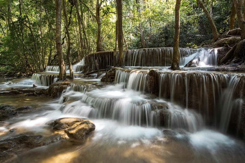NDフィルターでスローシャッターで撮影した滝