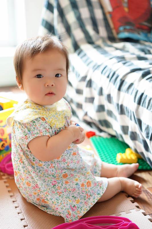 一眼レフで撮影した赤ちゃんの写真