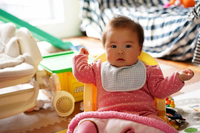 一眼レフで撮影した赤ちゃん