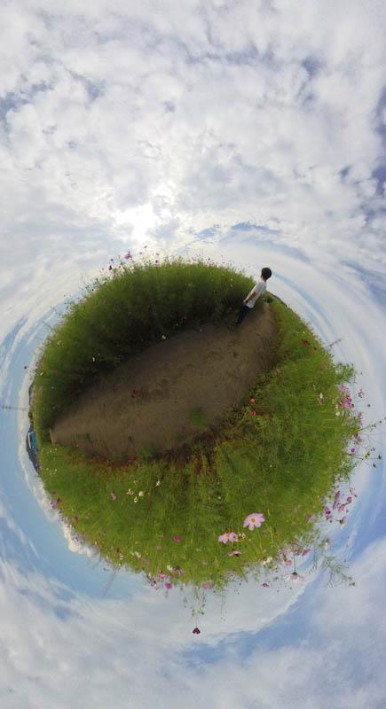 Insta360oneで撮ったリトルプラネットの写真