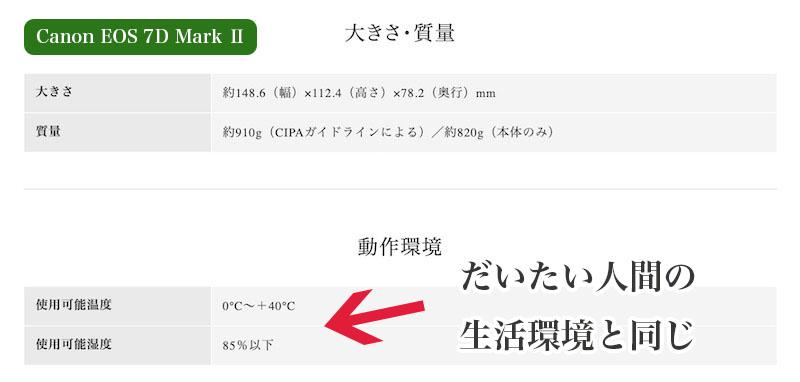カメラやレンズの保管温度と湿度は人間と同じくらい